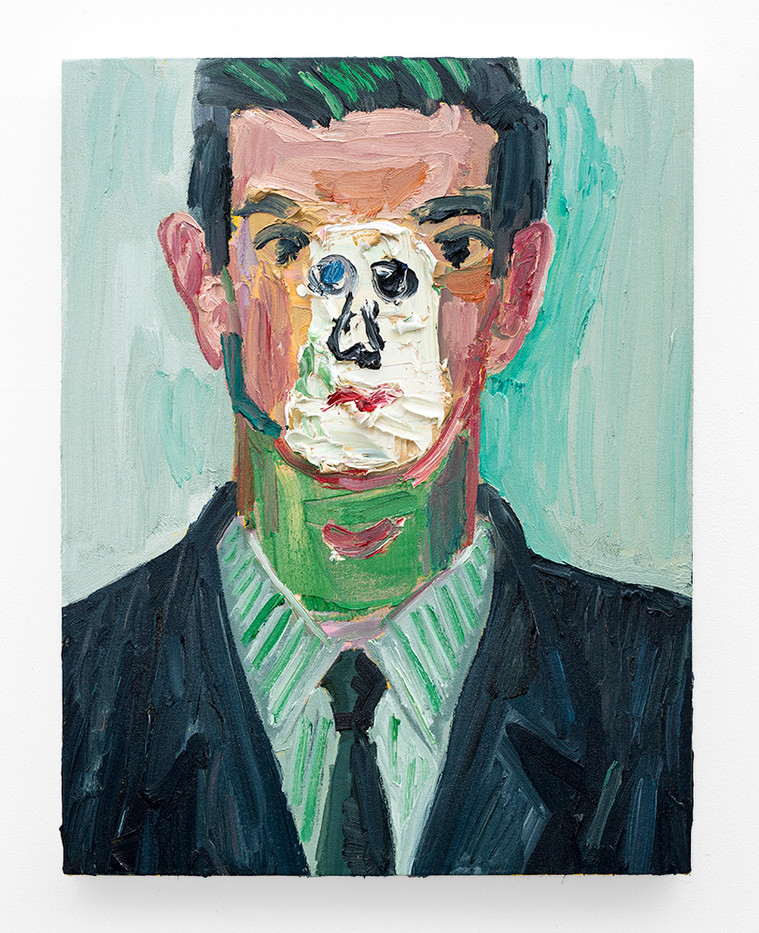 Georgina Gratrix | Young Man | 2018 | Oil on Canvas | 65 x 50 cm