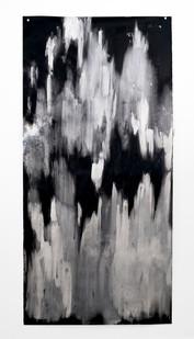 Alexandra Karakashian | Beneath V | 2018 | Oil and Salt on Sized Paper | 281 x 142 cm