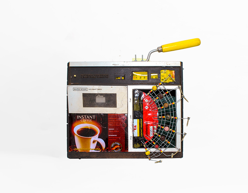 Cyrus Kabiru | Instant Coffee | 2020 | Steel and Found Objects | 34 x 30 x 9 cm