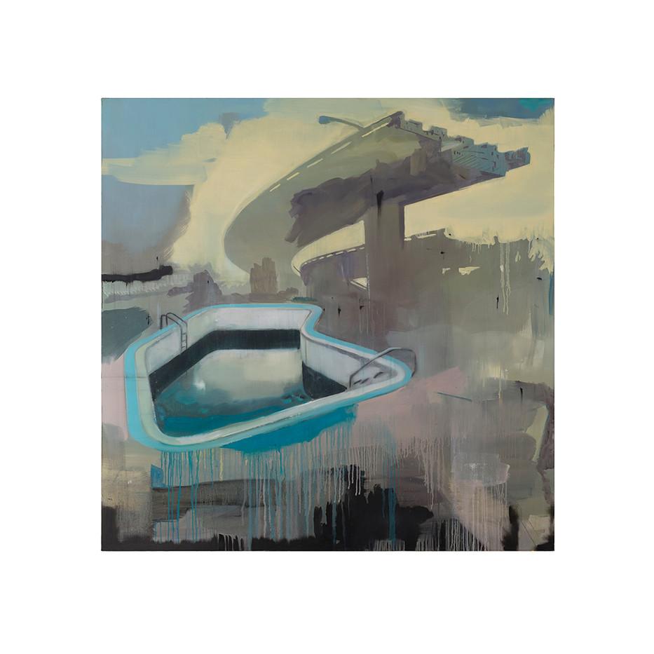 Kate Gottgens   Free Fall   2017   Oil on Canvas   150 x 150 cm