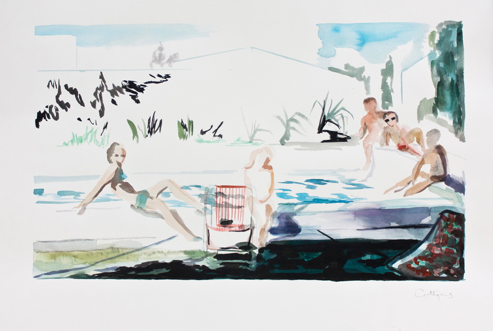 Kate Gottgens | The Robinson Family | 2013 | Watercolor on Paper | 57 x 76.5 cm