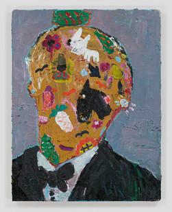 Georgina Gratrix | A Historical Man | 2015 | Oil on Board | 90 x 70 cm