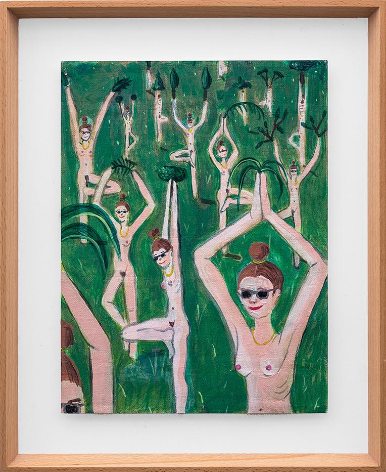 Marlene Steyn   Forest for rest and full body tan   2018   Oil on Canvas   30 x 23 cm