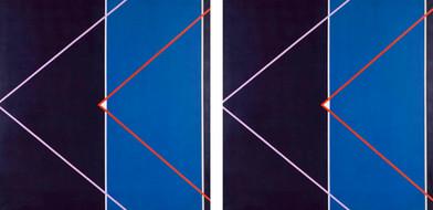Hannatjie van der Wat | Spaceship I & II (Diptych) | 1969 | Acrylic on Canvas | 152.5 x 152 cm Each