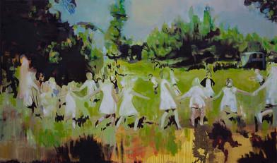 Kate Gottgens | Milk Teeth | 2015 | Oil on Canvas | 130 x 220 cm