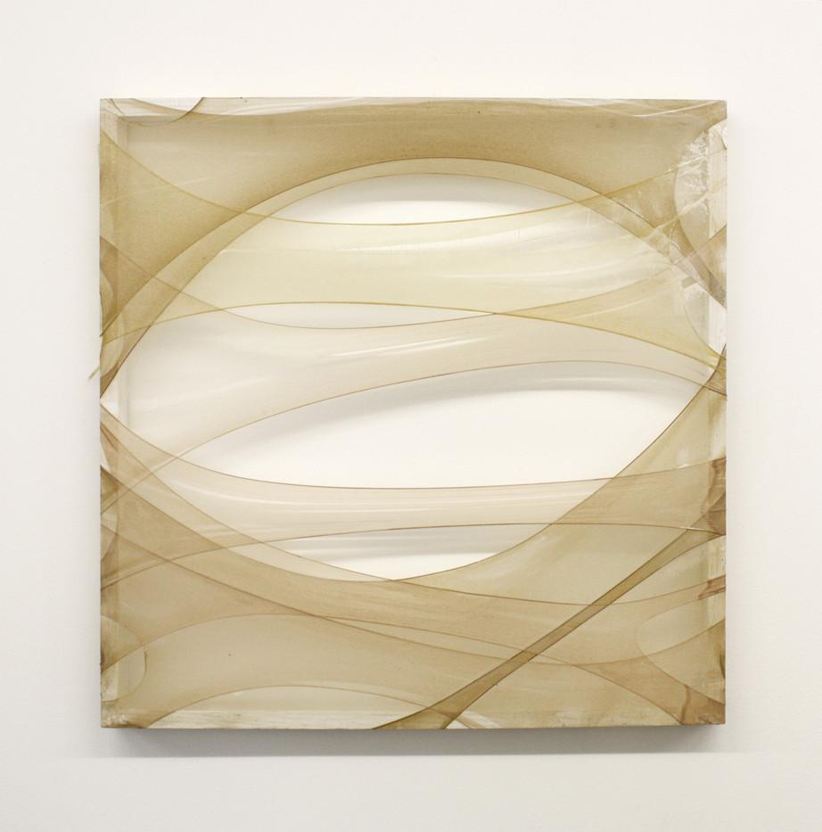 Turiya Magadlela | Kulungile 2 | 2012 | Silk Stockings, Wood, Varnish | 75 x 75 cm