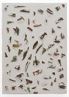 Gabrielle Kruger | Deposits | 2019 | Acrylic on Board | 30 x 21 cm