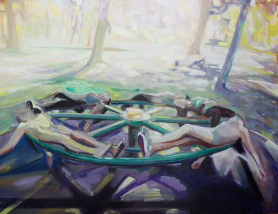 Kate Gottgens | Merry-go-round | 2015 | Oil on Canvas | 130 x 150 cm