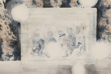 Uwe Wittwer | Interieur Negativ (Interior Negative) | 2012 | Watercolour on Paper | 153 x 224.5 cm