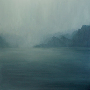 Jake Aikman | N10.84222, W85.87555 | 2013 | Oil on Canvas | 165 x 165 cm