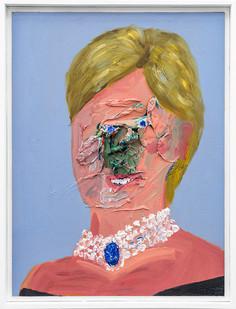 Georgina Gratrix | Shape Shifter / Princess | 2019 | Oil on Canvas | 64.5 x 29 x 6 cm