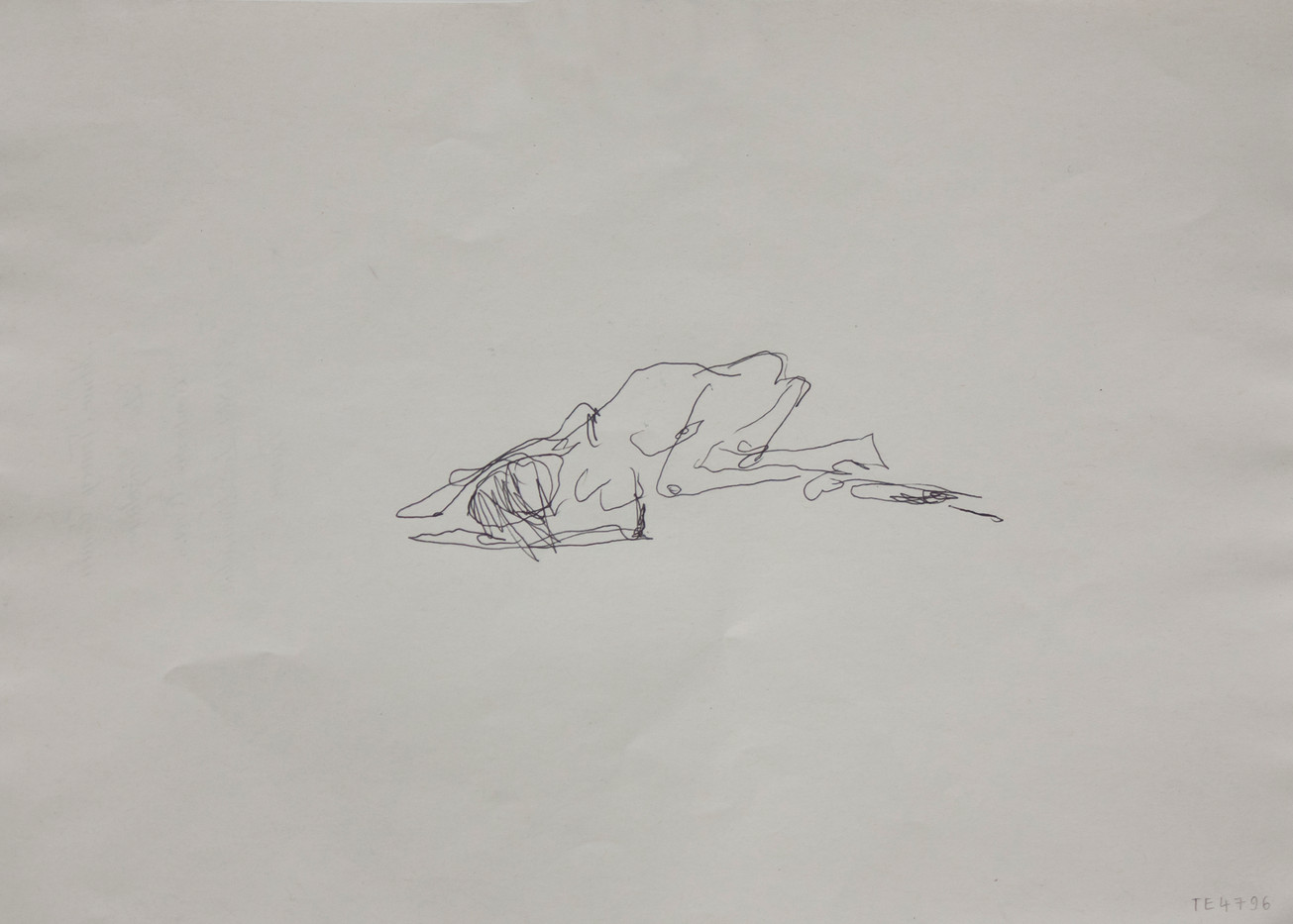 Tracey Emin | More Thinking (Verso) | 2012 | Pen on Paper | 21 x 29.5 cm