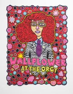 Jody Paulsen | Wallflower at the Orgy | 2017 | Felt Collage | 191 x 144 cm