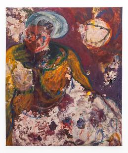 Mostaff Muchuwaya   Kukwatuka III   2018   Acrylic on Canvas   158 x 133 cm