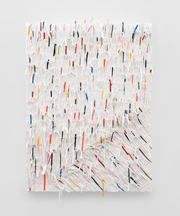 Gabrielle Kruger | Crowding | 2020 | Acrylic on Board | 90 x 65 cm