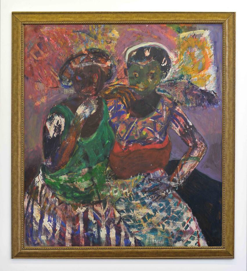Mostaff Muchawaya | Wasikama Wesipotsi | 2017 | Acrylic on Canvas | 168.5 x 150.5 cm