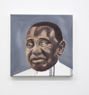 Themba Shibase | Big Boy (Cyril) | 2017 | Oil on Canvas | 30 x 30 cm
