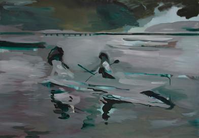 Kate Gottgens | Lagoon | 2014 | Oil on Canvas | 84 x 120 cm