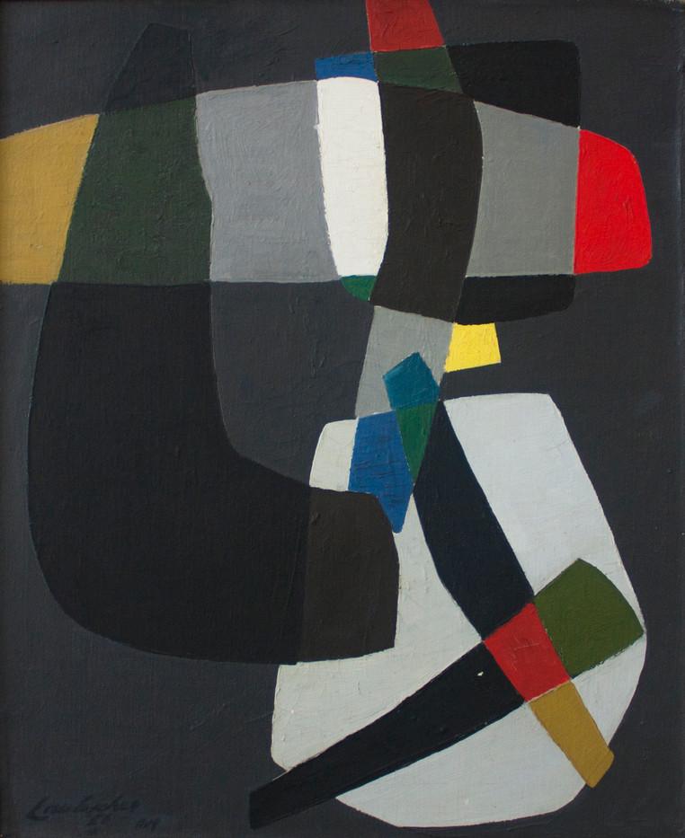 Erik Laubscher | Abstract Composition | 1958 | Oil on Canvas | 74 x 60 cm