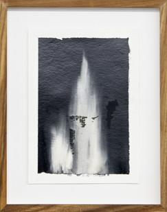Alexandra Karakashian | Achromatic I | 2017 | Oil on Sized Paper | 23.5 x 17 cm