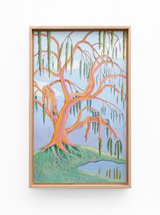 Marlene Steyn   we will... oh willow!   2020   Acrylic on Canvas Board   50 x 30 cm