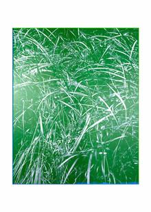 Peter Eastman | Green Riverbank | 2020 | Oil on Aluminium | 160 x 130 cm