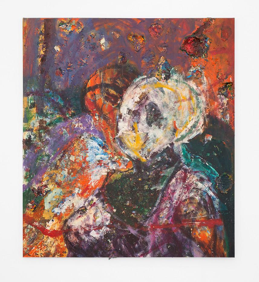 Mostaff Muchawaya   Untitled   2017   Acrylic on Canvas   143.5 x 127.5 cm