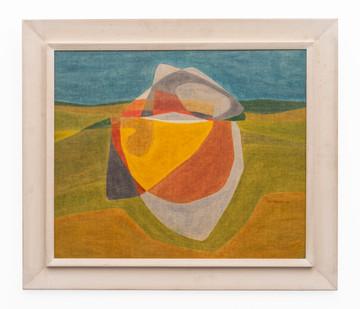 Fred Schimmel   Cavern   1968   Oil on Board   57 x 69 cm