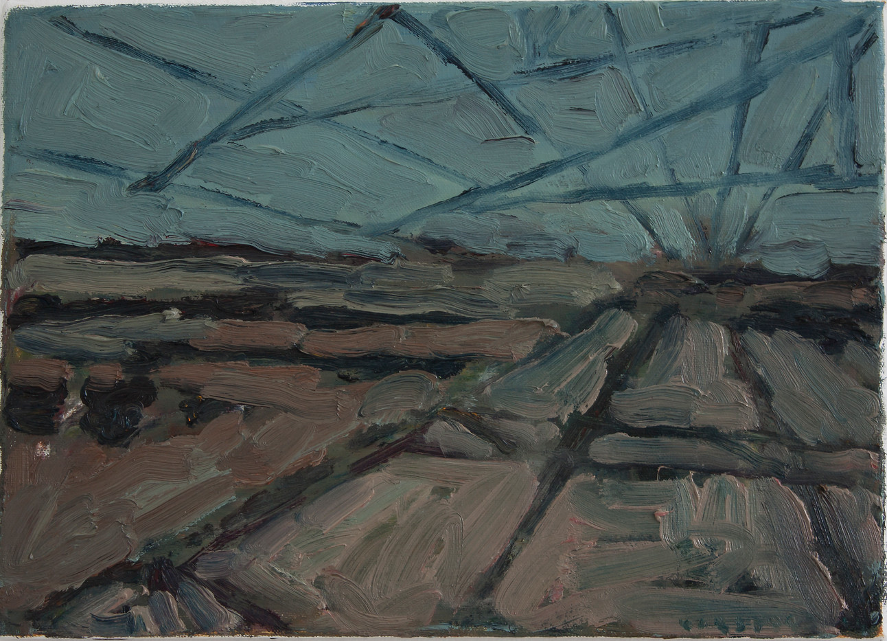 Anton Karstel | Property (Phalaborwa) | 2014 | Oil on Canvas | 25.5 x 35.5 cm
