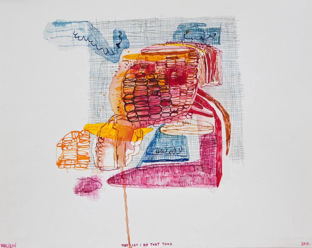 Maja Maljevic | They Say I Did That Thing | 2013 | Mixed Media on Paper | 35 x 43 cm