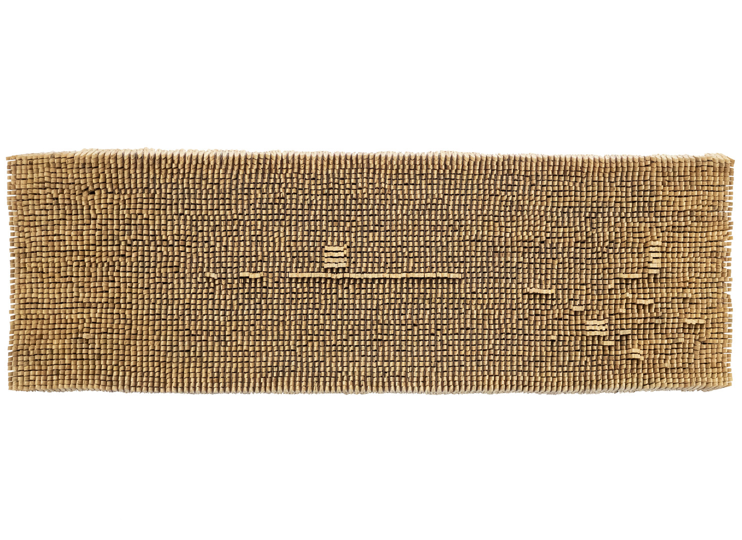 Usha Seejarim | A Message | 2019 | Pegs and Wire | 52 x 161 x 7.4 cm