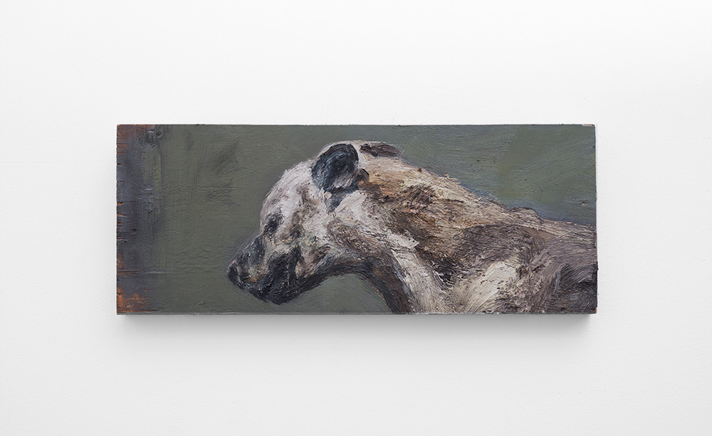 Johann Louw | Klein Hiëna | 2017 | Oil on Panel | 26 x 65 cm
