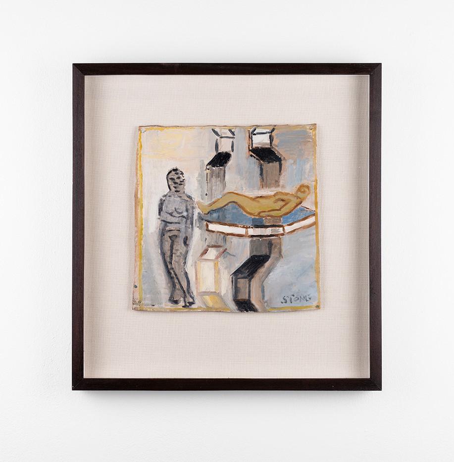 Simon Stone | Nude Suspended | 2020 | Oil on Cardboard | 25 x 25 cm