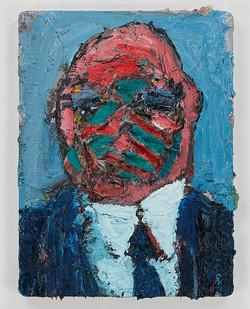 Georgina Gratrix | Lone Wolf | 2015 | Oil on Board | 41 x 31 cm