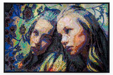 Frances Goodman | Mirror Self | 2019 | Hand-Stitched Sequins on Canvas | 74 x 111 x 7 cm