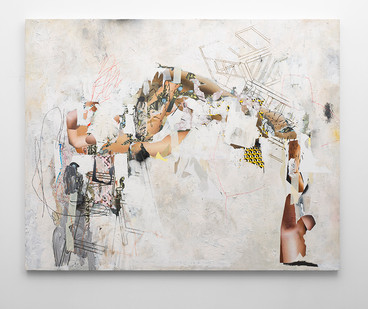 Asha Zero | 419 N | 2016 | Acrylic on Board | 163.5 x 205 cm