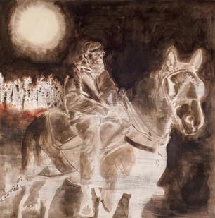 Uwe Wittwer | Reiter Negativ (Rider Negative) | 2012 | Watercolour on Paper | 127 x 111.5 cm