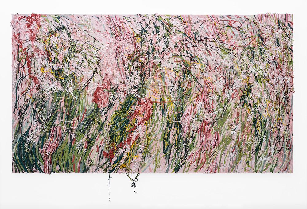 Gabrielle Kruger | Pushing Through | 2019 | Acrylic on Canvas Board | 182 x 323 cm