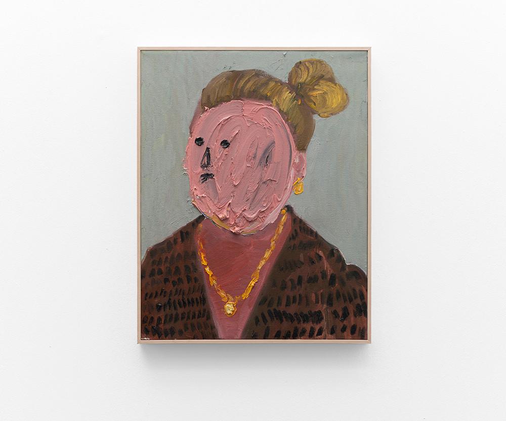 Georgina Gratrix | Lady with Bun | 2017 | Oil on Canvas | 70 x 55 cm