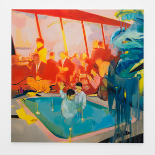 Kate Gottgens | Custodians of the Floating World | 2018 | Oil on Canvas | 150 x 150 cm