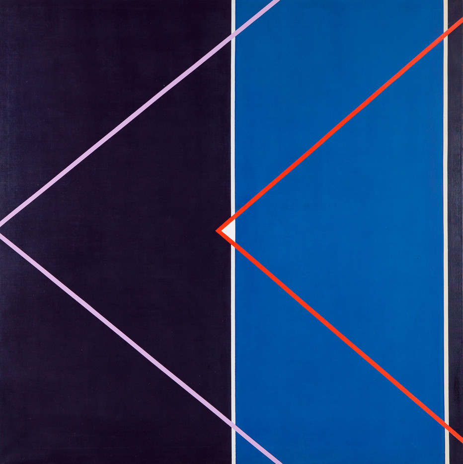 Hannatjie van der Wat | Spaceship I | 1969 | Acrylic on Canvas | 152.5 x 152 cm | Diptych