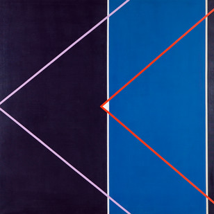 Hannatjie van der Wat | Spaceship I | 1969 | Acrylic on Canvas | 152.5 x 152 cm | Diptych