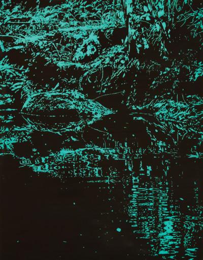 Peter Eastman | Deep Chine II | 2014 | Oil on Aluminium | 60 x 45 cm