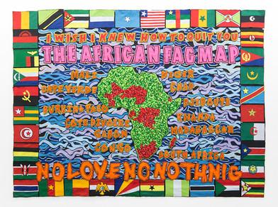 Jody Paulsen | The African Fag Map | 2017 | Felt Collage | 230 x 315 cm