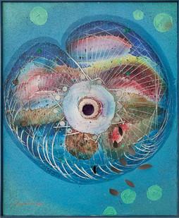 Christo Coetzee | Untitled | 1963 | Mixed Media on Canvas | 100 x 81 cm