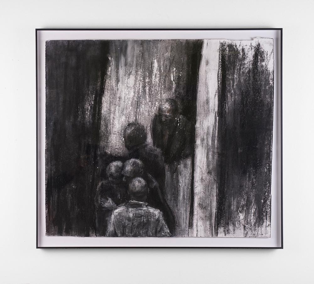 Johann Louw | Gedrag by Donker Gat | 2018 | Charcoal on Paper | 62.5 x 71 cm