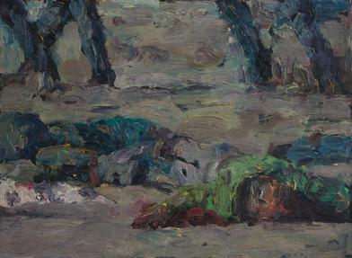 Anton Karstel | Marikana (4) | 2013 | Oil on Canvas | 39.5 x 54 cm