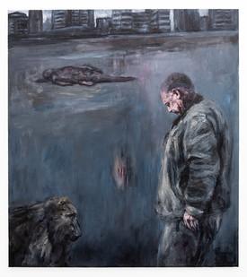 Johann Louw | In die koninkryk van die diere in die nag | 2020 | Oil on Canvas | 200 x 180 cm