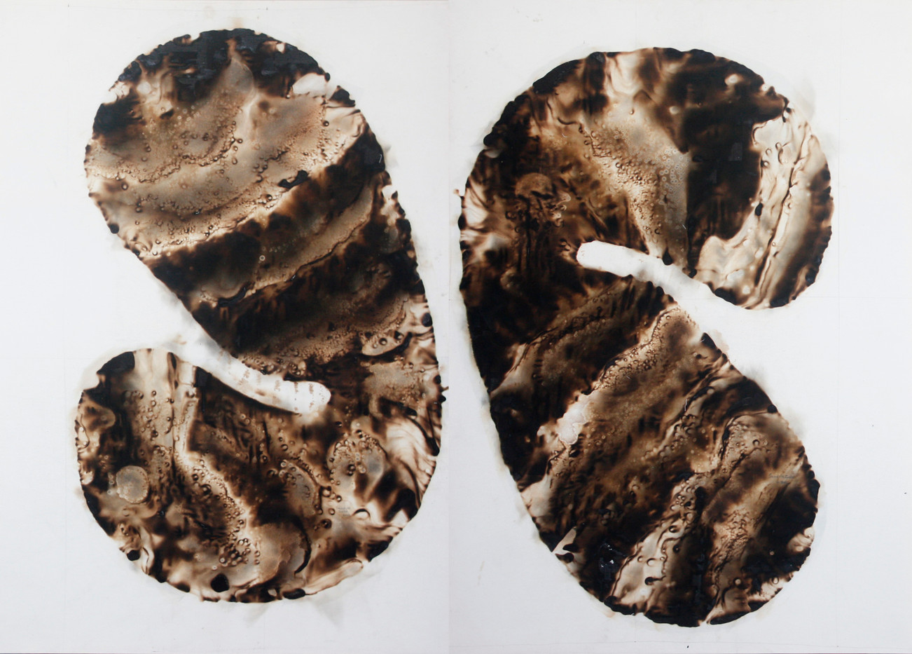Sandile Zulu | Artoms Archetype Forms Case 9 | 2012 | Fire, Water, Air and Earth on Canvas | 190 x 135 cm