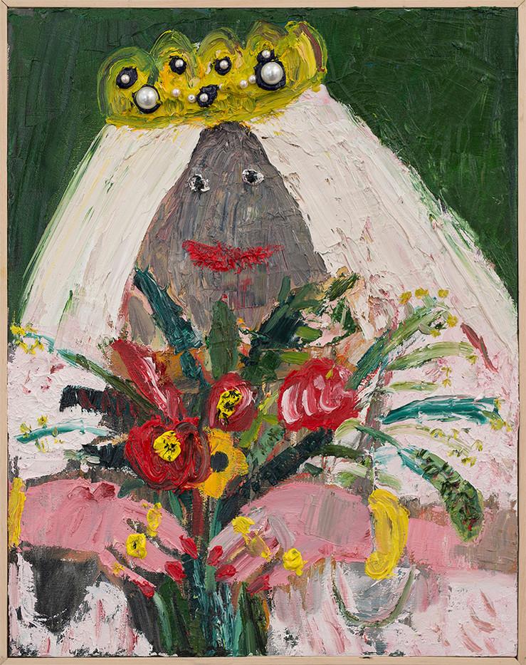 Georgina Gratrix | Pinterest Bride | 2017 | Oil on Canvas | 70 x 55 cm